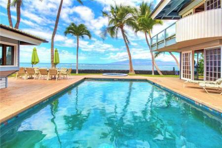 Lahaina Oceanfront Estates Vacation Rental Home Maui