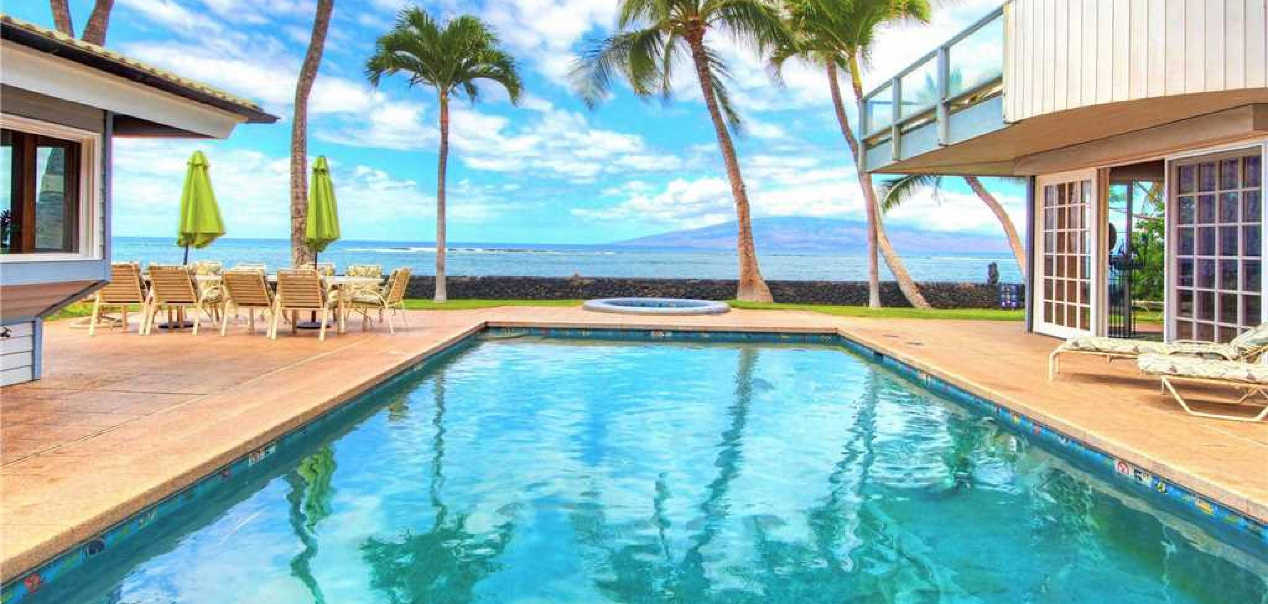 Lahaina Oceanfront Estates Ocean View Pool
